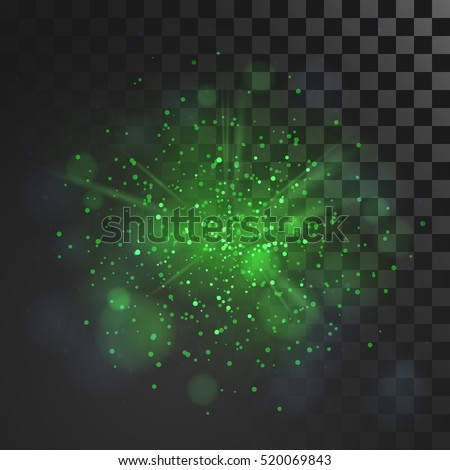green dust vector firework