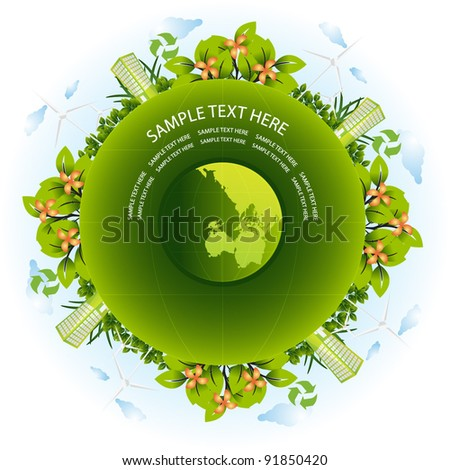 green earth - stock vector