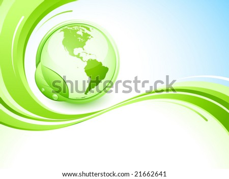 Green earth and abstract background