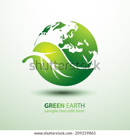 green earth concept with leaves ...