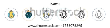 green earth icon in filled