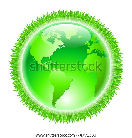 Green Earth. Illustration on white background for design