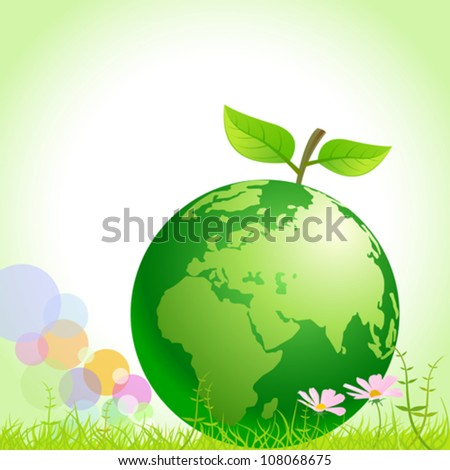 Green Earth - Save Environment - stock vector