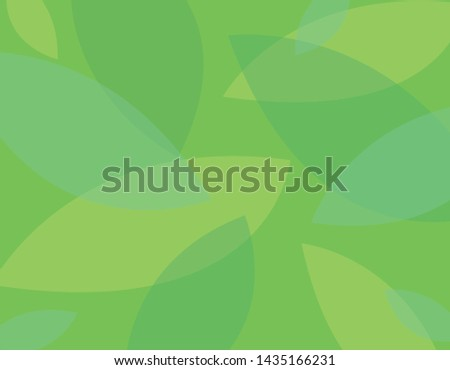 Green eco background with green leaves. Flat vector illustration.