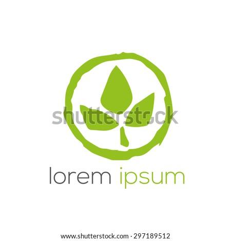 Green eco bio vector logo (sign, symbol, icon, design element)