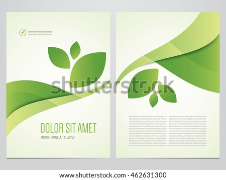 Brochure free vector graphics 123freevectors for Environment brochure template