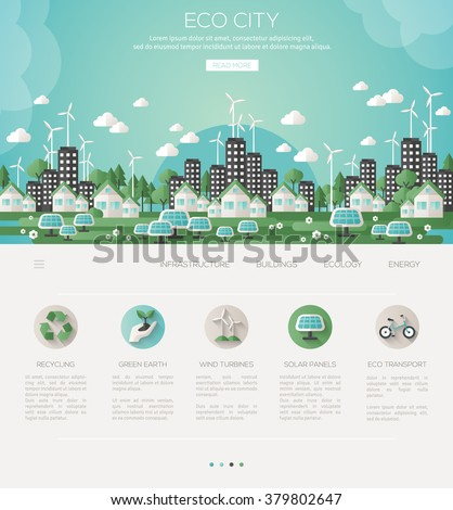 green eco city and sustainable