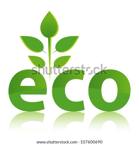 Green ECO concept with leaf design.