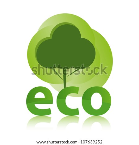 Green ECO concept with tree design.