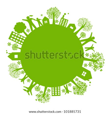 green eco earth  isolated on...