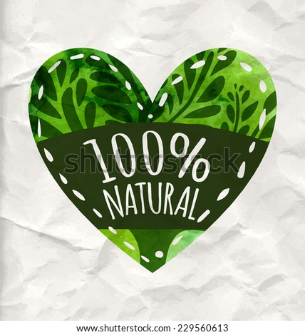 green eco label with text 100