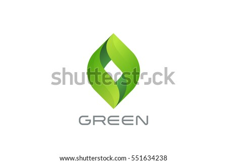 green eco leaves logo design