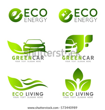 green eco logo with e letter