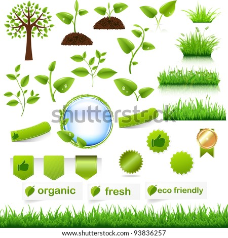 green eco set  isolated on