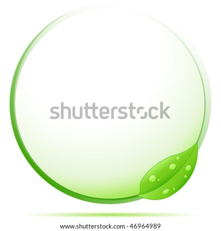 green eco sign - vector illustration