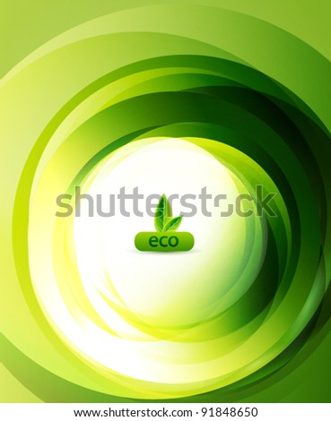 Green eco swirl abstract background