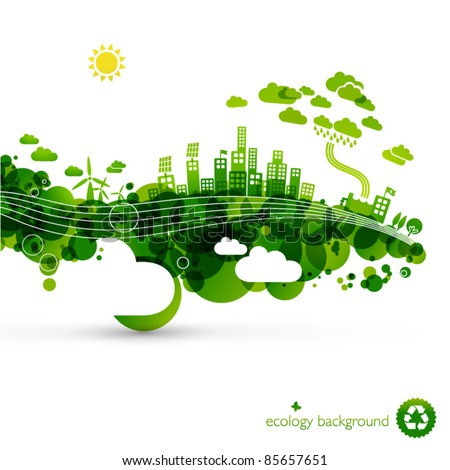 green eco town   abstract