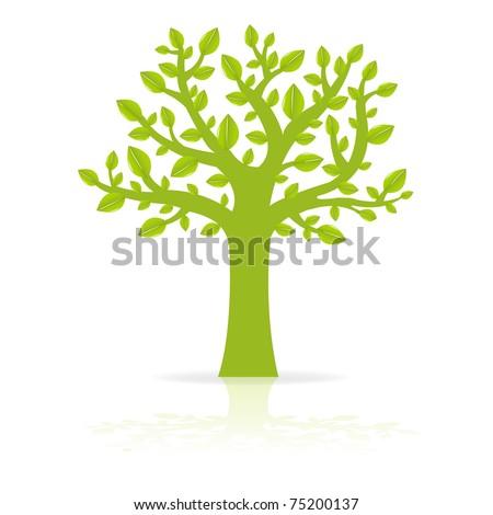 Green Eco Tree, Vector Illustration