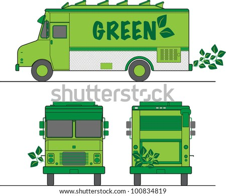 Green Eco Truck