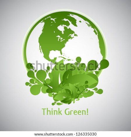 Green Eco World - stock vector