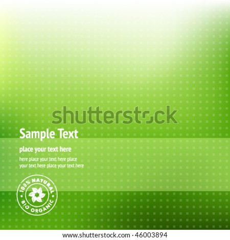 Green Ecological Background - stock vector
