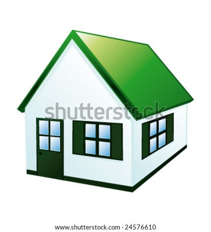 Green ecological house vector