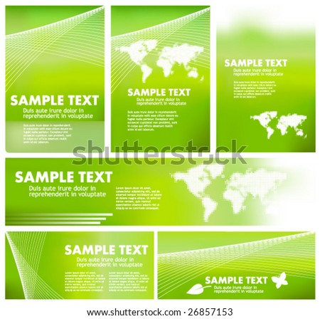 green ecology banners, elements and templates