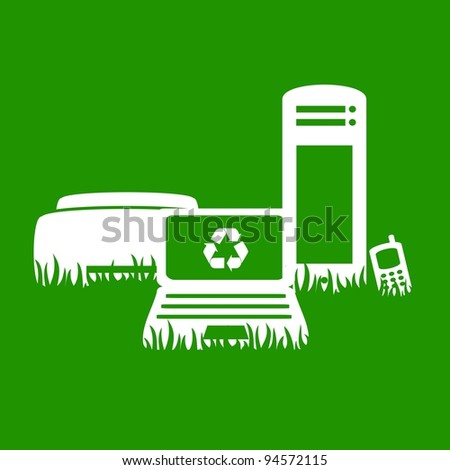 Green Electronics recycling - stock vector