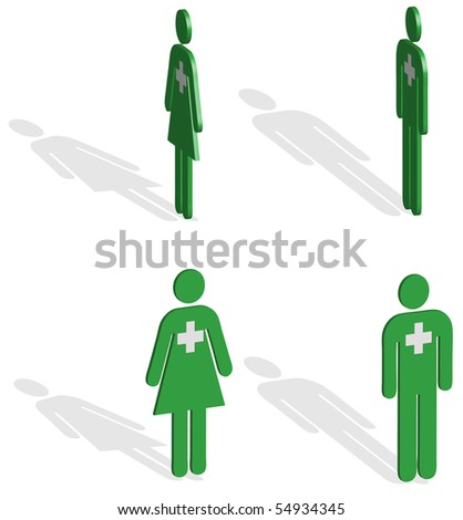 Green Emergency services crew Illustration