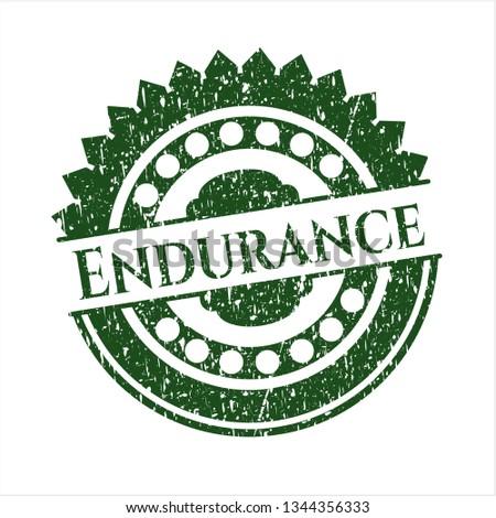Green Endurance distressed rubber grunge texture seal
