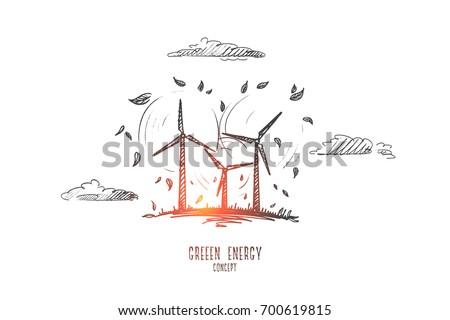 green energy concept hand
