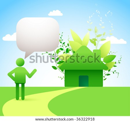 green energy concept - low-energy/ passive houses  //see also other images related to this topic in my portfolio// - stock vector