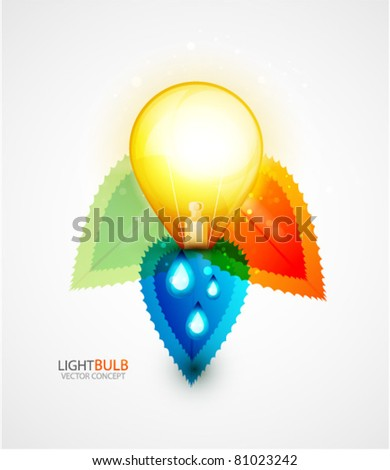 Green energy concept. Vector background