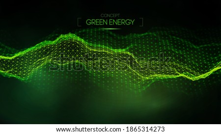 Green energy concept. Vector green technology background. Futuristic vector illustration. Foto stock ©