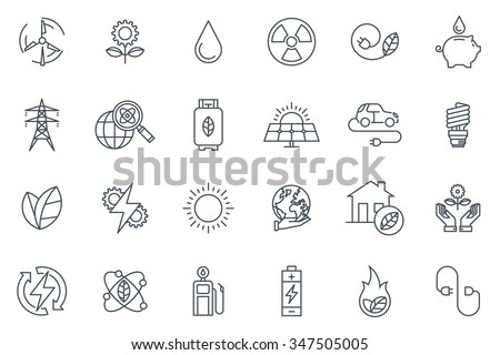 green energy icon set suitable