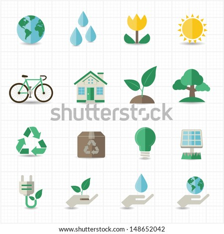 green energy icons