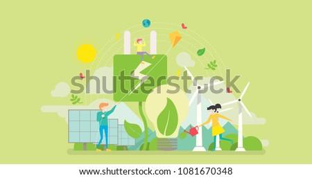 green energy tiny people