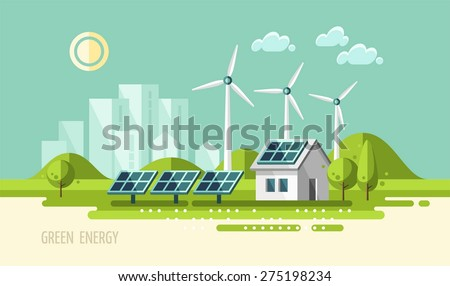 green energy  urban landscape