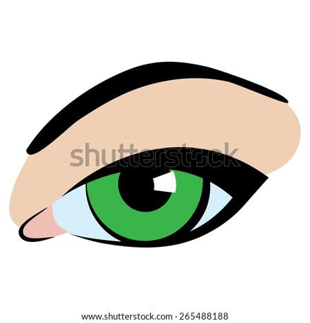 green eye cartoon flat