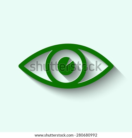 green  eye icon vector with
