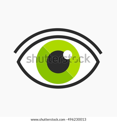 green eye logo symbol vector