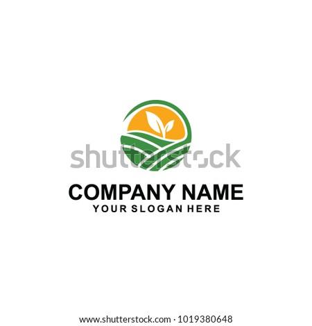green farms ten logo design