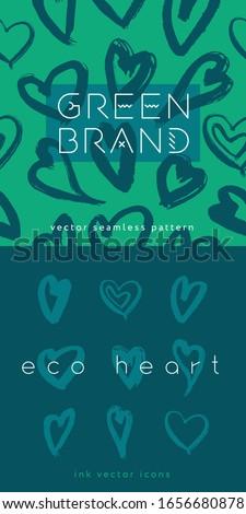 green fashion pattern  eco