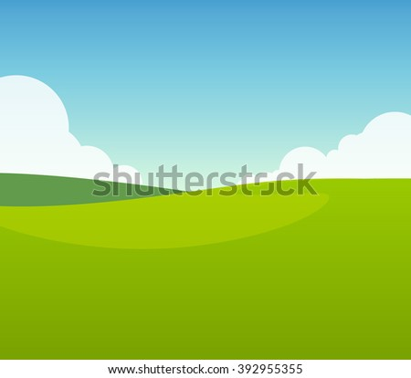 green field in sunny day