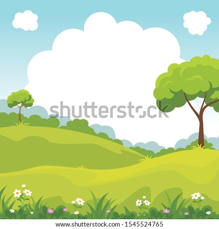 green field or park with