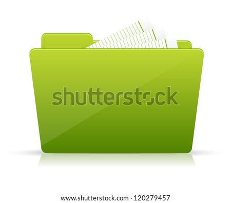 Green file folder icon