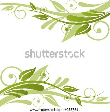 Green Flora Vector Design