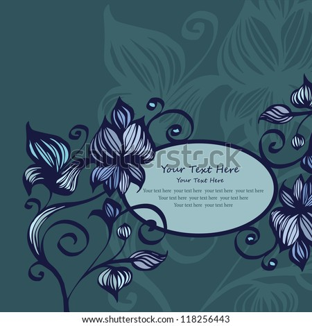 green flower pattern background with your text here