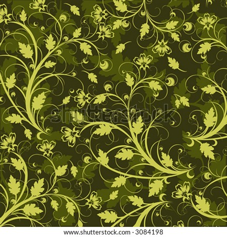 background wallpaper flowers. stock vector : green flowers