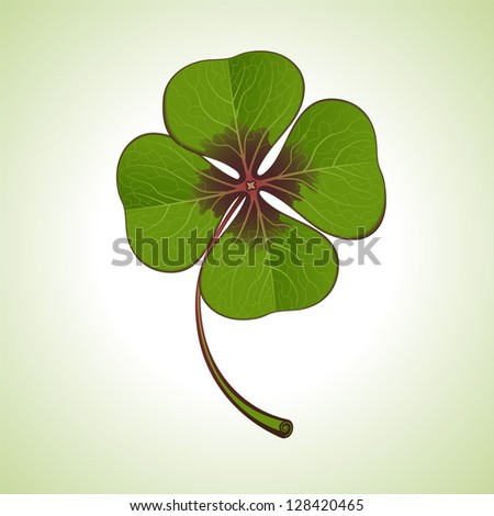 green four-leaf clover